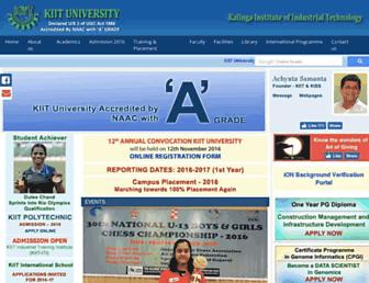 kiit.ac.in screenshot