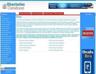directoriesdatabase.com screenshot