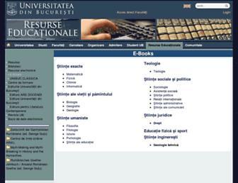 ebooks.unibuc.ro screenshot