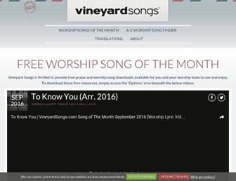 vineyardsongs.com screenshot
