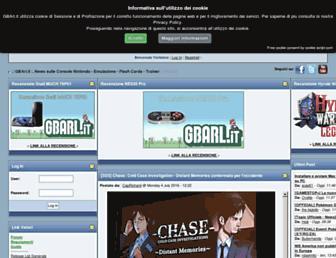 Main page screenshot of gbarl.it