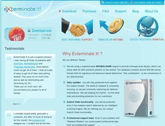 exterminate-it.com screenshot