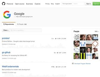 google.github.io screenshot