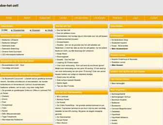 Main page screenshot of doe-het-zelf.beginthier.nl