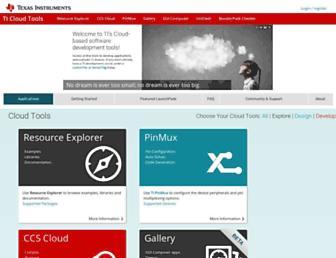 dev.ti.com screenshot