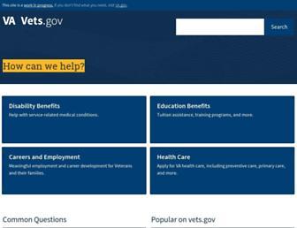 vets.gov screenshot