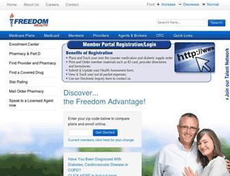 freedomhealth.com screenshot