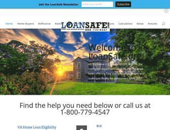 Main page screenshot of loansafe.org