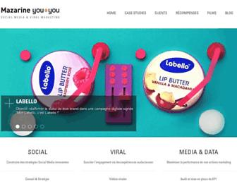 Main page screenshot of youtoyou.fr