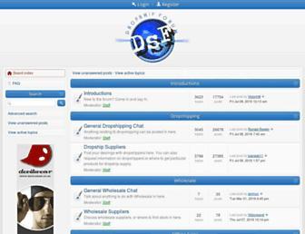 dropshipforum.co.uk screenshot