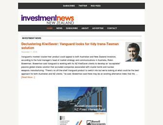 investmentnews.co.nz screenshot