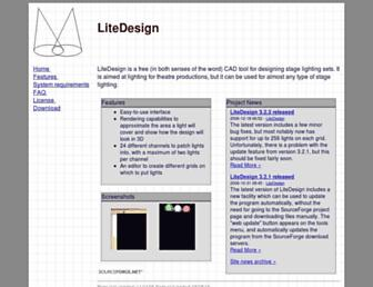 litedesign.sourceforge.net screenshot