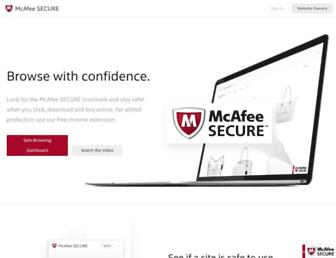 Thumbshot of Mcafeesecure.com