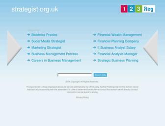 Main page screenshot of strategist.org.uk
