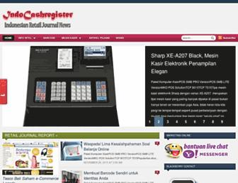 indocashregister.com screenshot