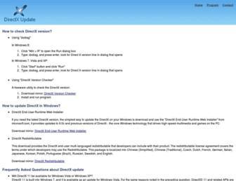 directxupdate.com screenshot