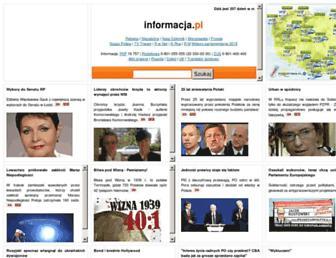 Main page screenshot of informacja.pl