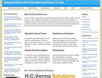 Main page screenshot of entrance-exam.net