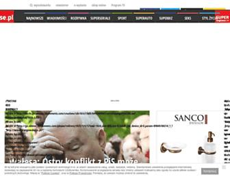 Main page screenshot of se.pl