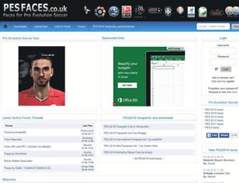 pesfaces.co.uk screenshot