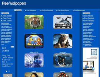 Main page screenshot of freewallpapers.to
