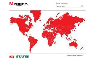 megger.com screenshot