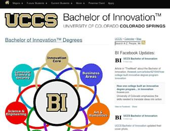 innovation.uccs.edu screenshot