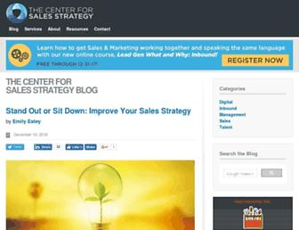 blog.thecenterforsalesstrategy.com screenshot