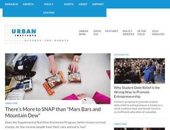 urban.org screenshot