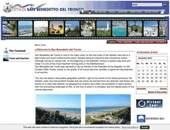 Main page screenshot of comunesbt.it
