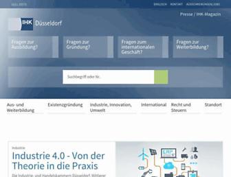 duesseldorf.ihk.de screenshot