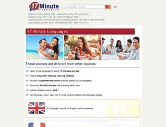 17-minute-languages.com screenshot