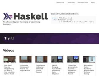 haskell.org screenshot