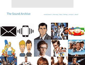 thesoundarchive.com screenshot
