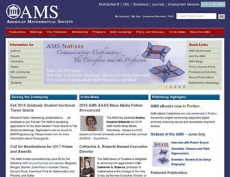 ams.org screenshot