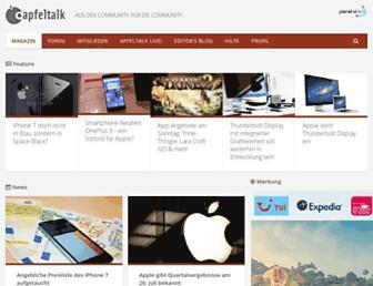 Main page screenshot of apfeltalk.de