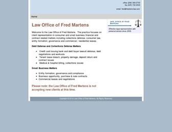 Main page screenshot of fjmlaw.net
