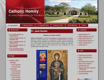 Main page screenshot of catholichomily.org
