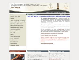 adminlaw.state.la.us screenshot