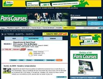 paris-courses.com screenshot