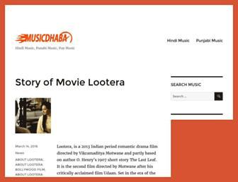 musicdhaba.com screenshot