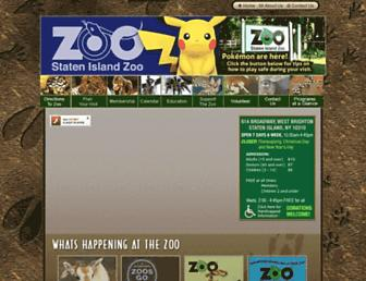 statenislandzoo.org screenshot