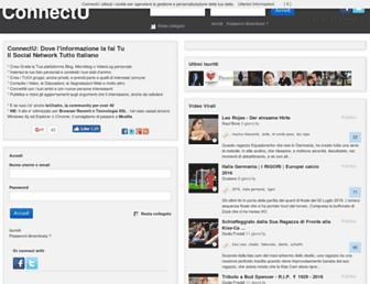 Main page screenshot of connectu.it