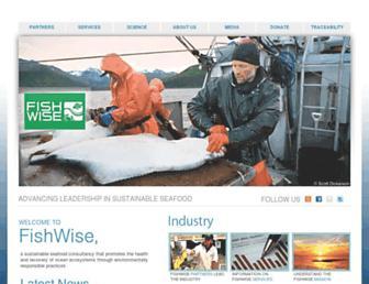 Main page screenshot of fishwise.org