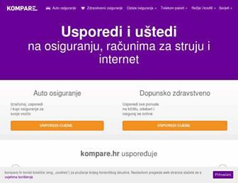 kompare.hr screenshot