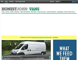vans.honestjohn.co.uk screenshot