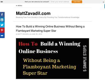 mattzavadil.com screenshot