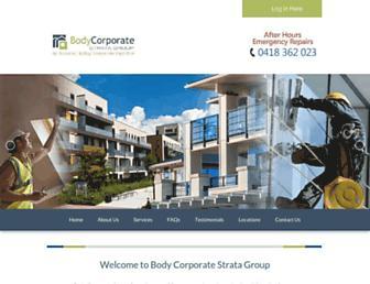 bodycorporatestrata.com.au screenshot