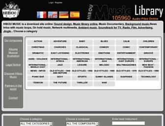 hibou-music.com screenshot