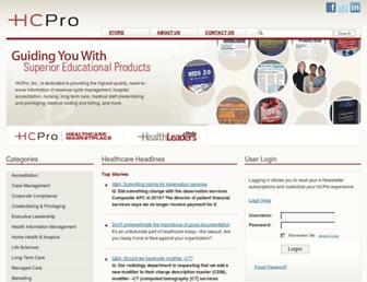 hcpro.com screenshot